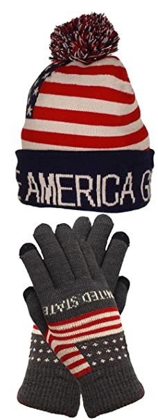 d7303141097 Trump Beanie Ski Cap Hat Make America Great Again Stars Stripes USA Flag  with Matching Touch