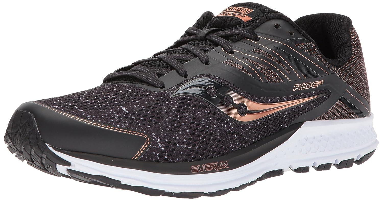 Saucony Men's Ride 10 Running-Shoes B071JP1KTM 14 D(M) US|Black/Denim