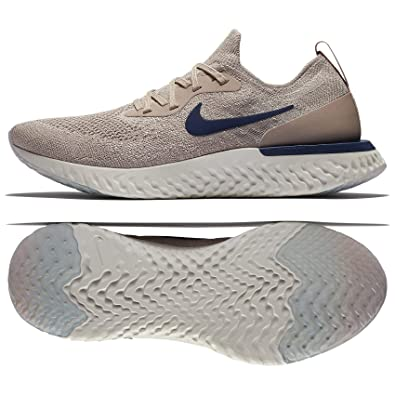 super popular 5b1f3 c3ebe Nike Men s Epic React Flyknit Running Shoes (10.5, Diffused Taupe Blue Void)
