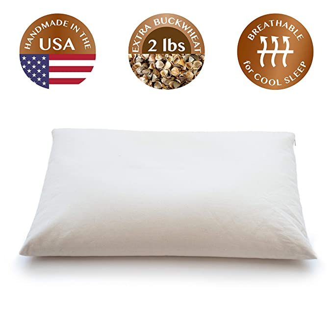 ComfySleep Buckwheat Hull Pillow - Ultimate Upgrade and Customizable