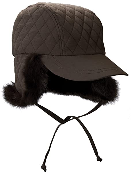 Amazon.com  Petite Small Brown Quilted Winter Rain Hat 7dc70d10975