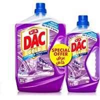 DAC Gold Disinfectant Multi-Purpose Cleaner - Lavender (3 Litres + 1 Litre), for 99.9% Germs and Bacteria Removal, with…