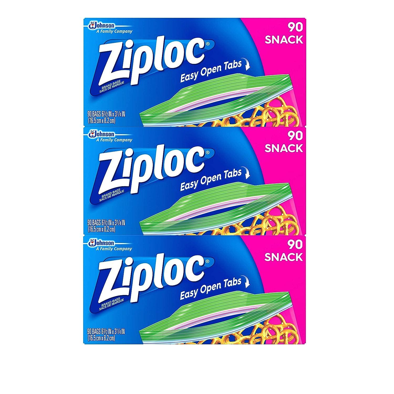 Ziploc Snack Bags, Snack, 3 Pack, 90 Ct by Ziploc