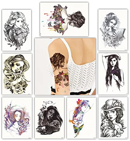 9eb102383 Image Unavailable. Image not available for. Color: DevilFace Large  Temporary tattoos for Men ...