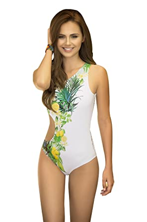 Mapalé Women Printed Sexy One-Piece Bathing Suit Cute ...