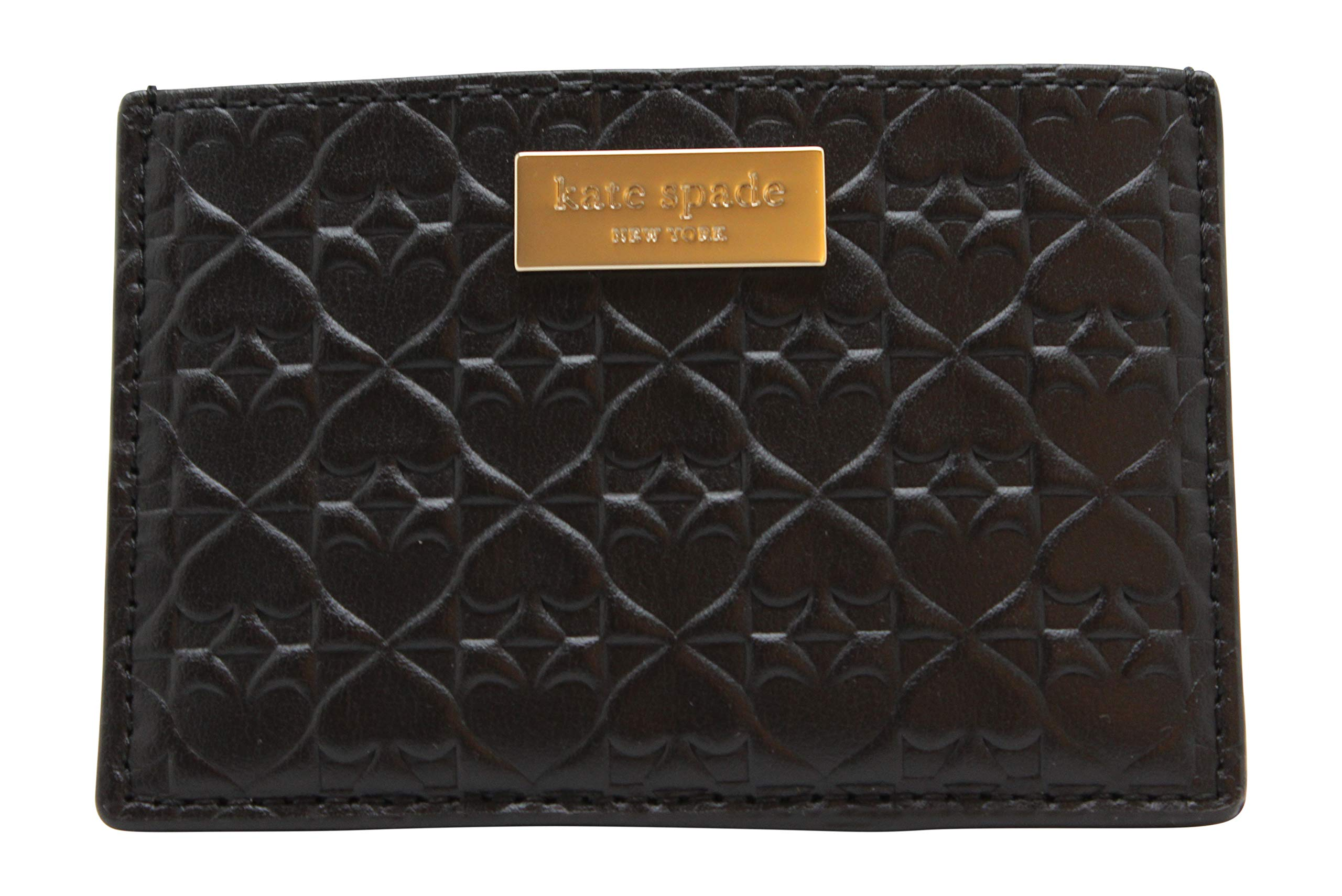 Kate Spade New York  Graham Embossed Wallet Business Card Holder Credit Card Case Black ,Small  by Kate Spade New York