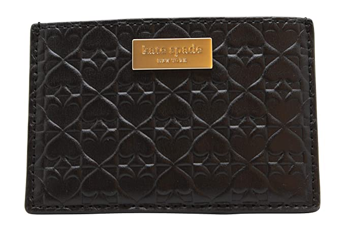 new arrival 496f6 21d69 Kate Spade New York Graham Embossed Wallet Business Card Holder Credit Card  Case Black ,Small