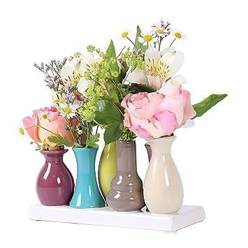 Amazonde Keramikvasenset Blumenvase Keramikvasen Bunt Vase Blumen