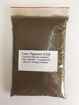 Pigmento marrón verdoso (1 libra) / tinte para hormigón, yeso ...