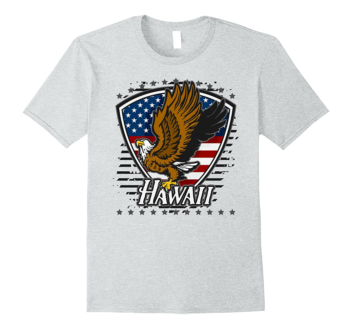 dec18228d Hawaii Shirt Bald Eagle on American Flag-ANZ - Anztshirt