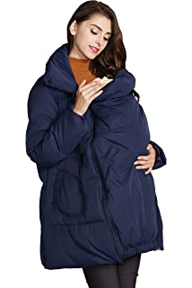 ca6f72fbe4ccd zenicham Women's Stitching Hooded Fur Collar Long Maternity Coat. 1.0 out  of 5 stars 3 · $41.00 · Sweet Mommy Maternity and Mother's Down Duffle Coat  with ...