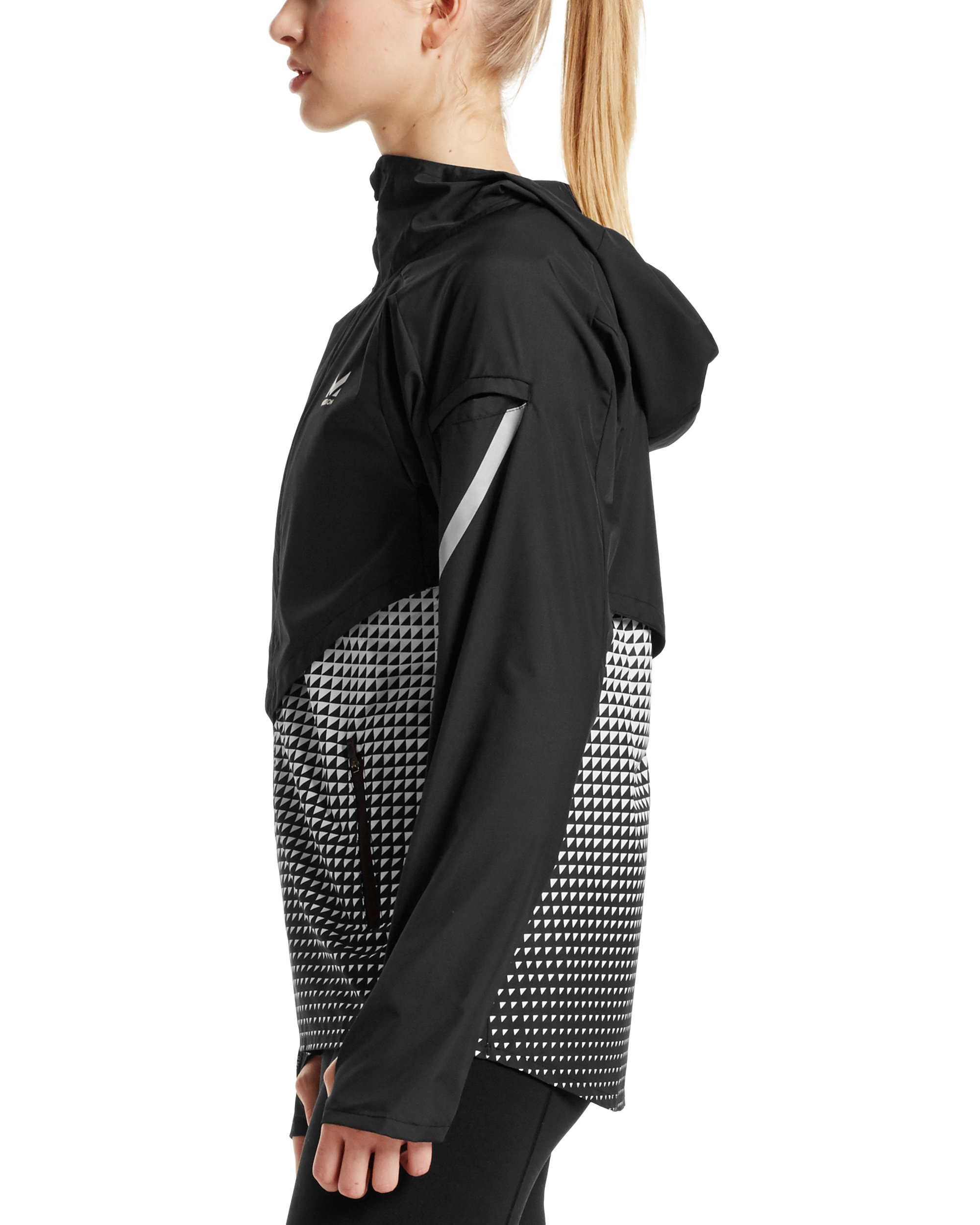 Mission Women's VaporActive Barometer Running Jacket, Moonless Night/Bright White Ombre, Medium by MISSION (Image #3)