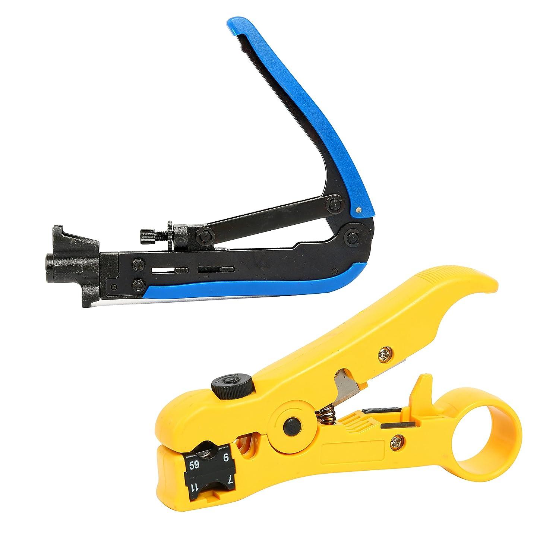 2 yaetek RG59 RG6 RG11 Kompression Werkzeug Koax Kabel ...