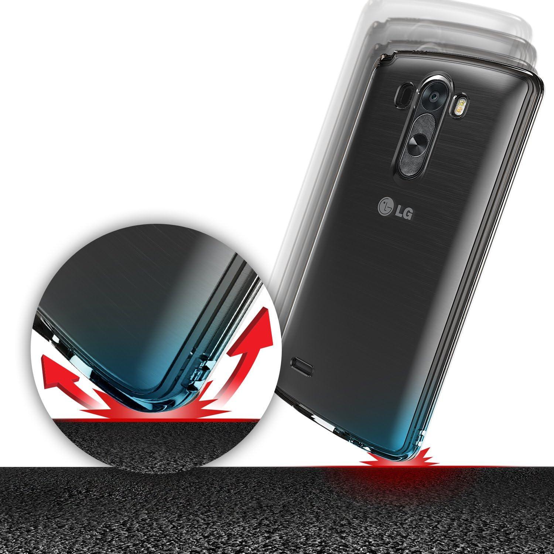 [Gratis HD Pantalla-Caída Protección] Ringke FUSION LG G3 Funda Bumper [SMOKE BLACK Negro] Premium Hybrid Hard Case Funda Carcasa Cubierta [Eco/DIY ...