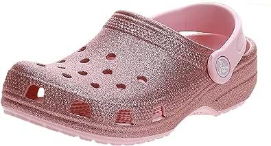Crocs Classic Glitter Clog K, Zuecos Unisex niños