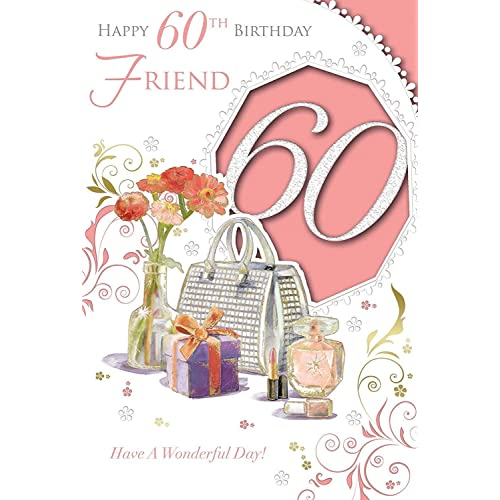 xpress yourself female friend 60 happy birthday medium sized style birthday card