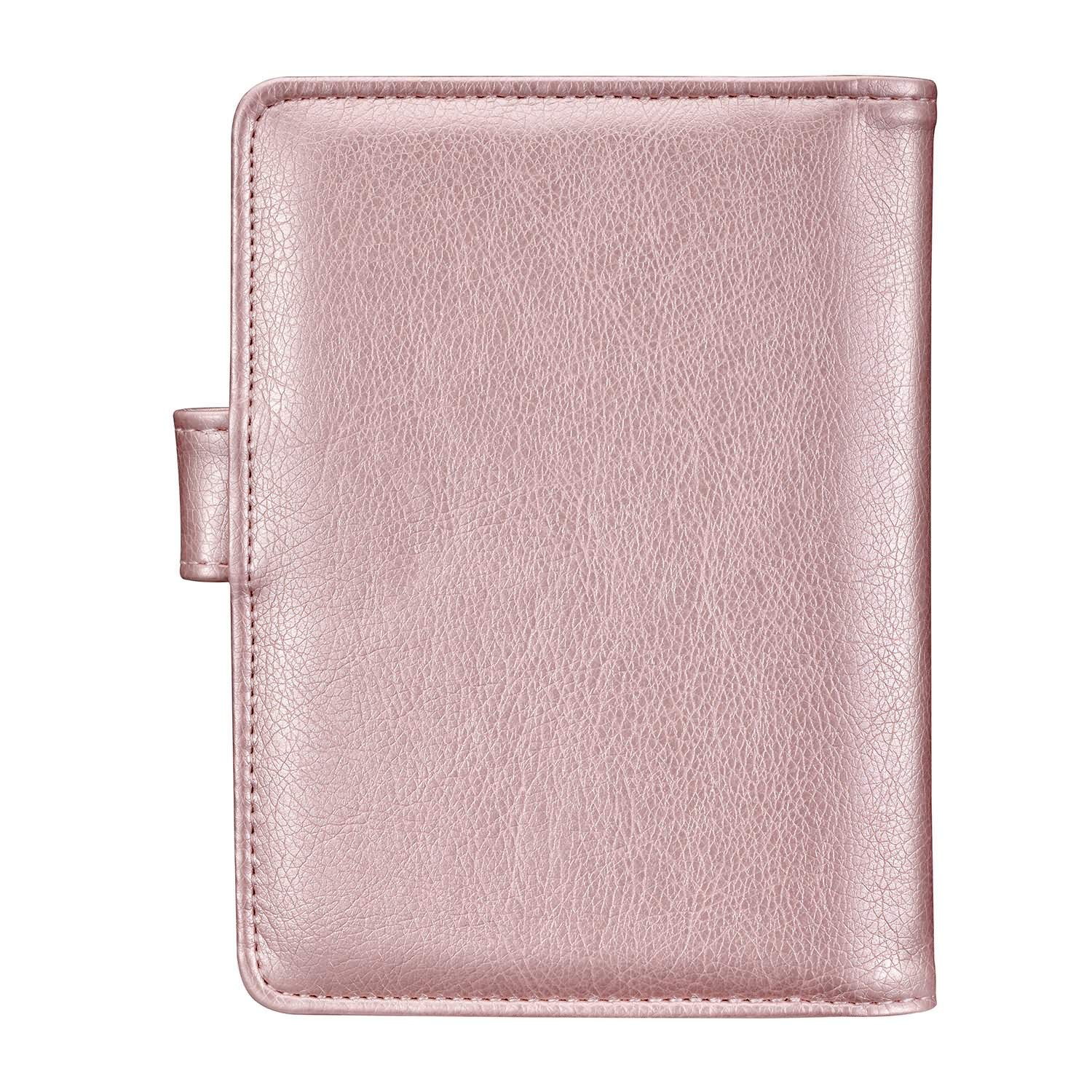 Passport Holder Travel Cover Case - HOTCOOL Leather RFID Blocking Wallet For Passport, Rose Gold (Magnetic) by HOTCOOL (Image #7)