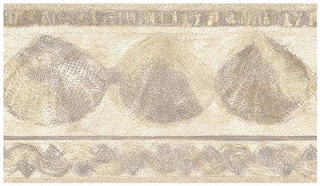 Prepasted Wallpaper Border Chiffon Seashells Distressed