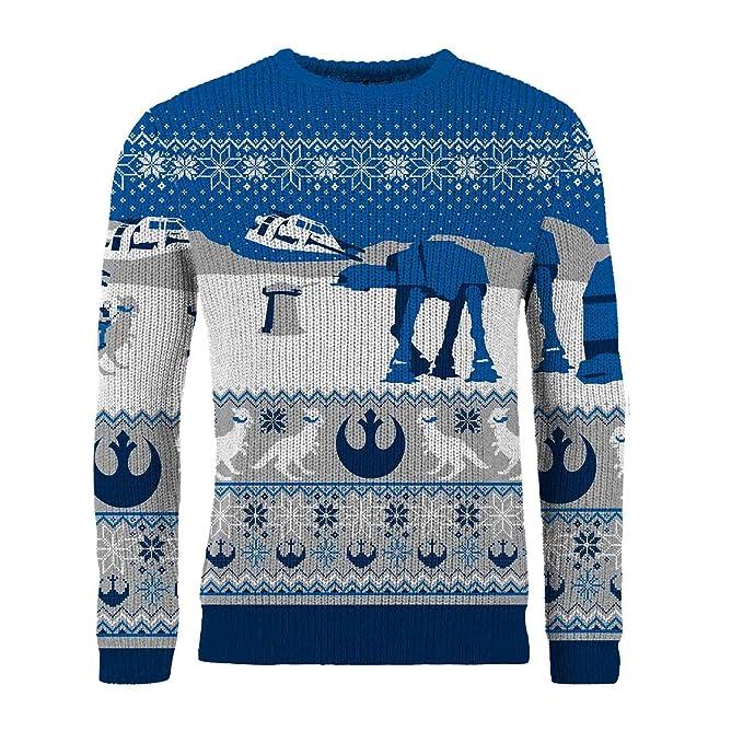 Star Wars - Jersey Navideño de Punto para Hombre (M/Azul): Amazon.es: Ropa y accesorios