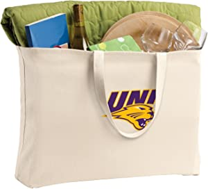 Broad Bay Jumbo University of Northern Iowa Tote Bag or Large Canvas UNI Panthers Shopping Bag