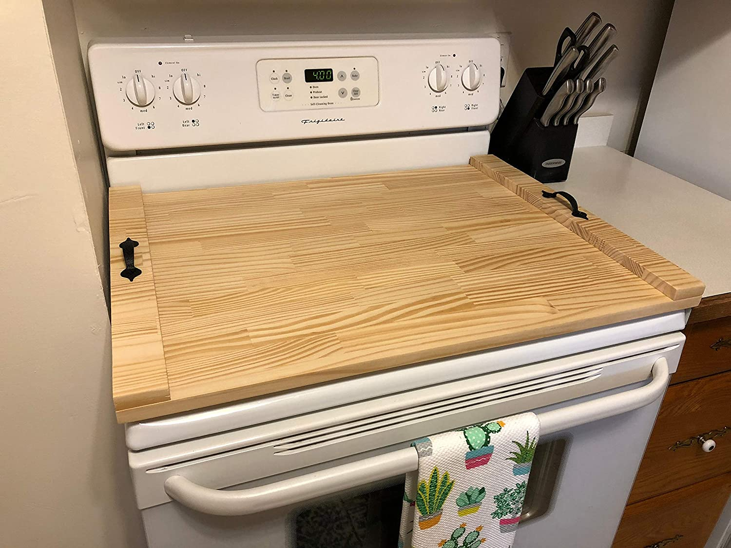 Wooden Tray For Stove Stove Tray Stove Top Tray Rustic Stove Top Cover Decorative Tray Cooktop