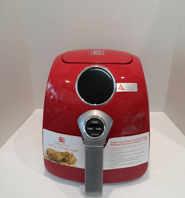Living Basix LB200 R Digital Oil- Free Fryer, Red