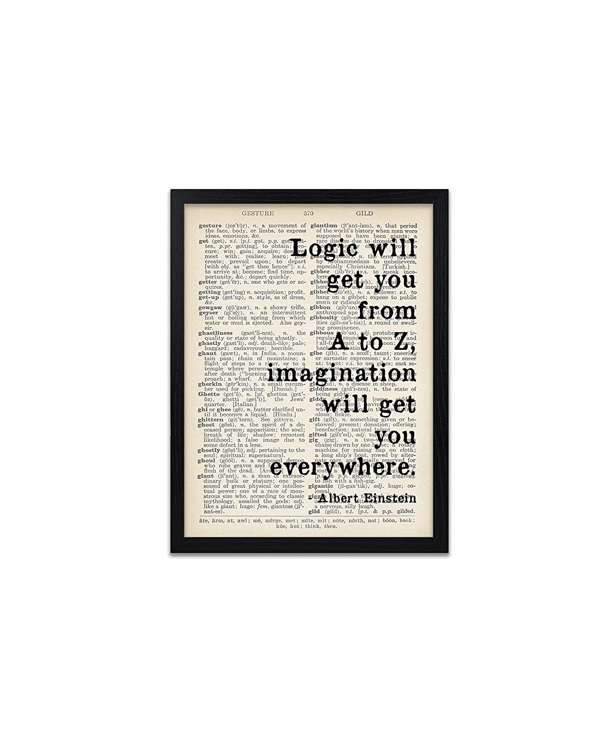 Albert Einstein Quote Prints Scientist Quotes Print Posters For Classrooms And Offices Poster Wall Art Home Decor Frame Not Included Amazon Co Uk Handmade