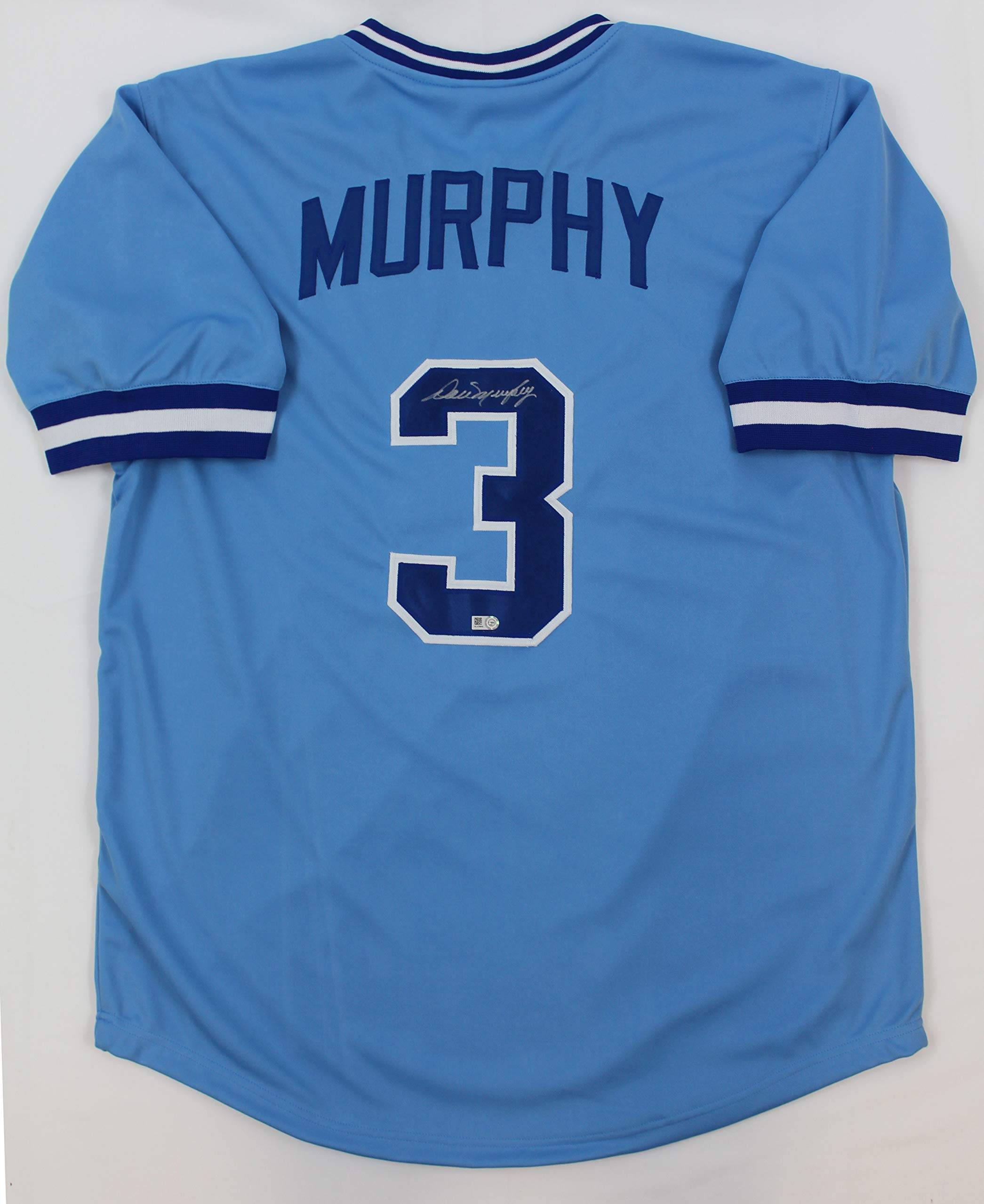 Dale Murphy Autographed Blue Atlanta Braves Jersey Hand Signed By Dale Murphy and Certified Authentic by MLB