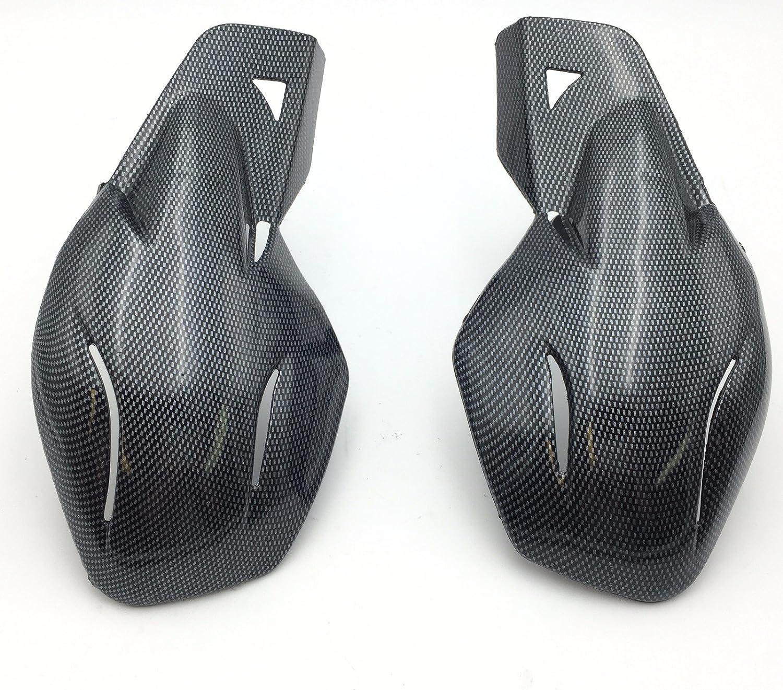 HK MOTO- Motorcycle Carbon Fiber Hard Plastic Reinforced Hand Guards 7/8' 22mm For Snowmobile Polaris RMK Ski-Doo Sno Pro Vector Phaser Indy Honda Yamaha Suzuki KTM ATV HK-MOTO