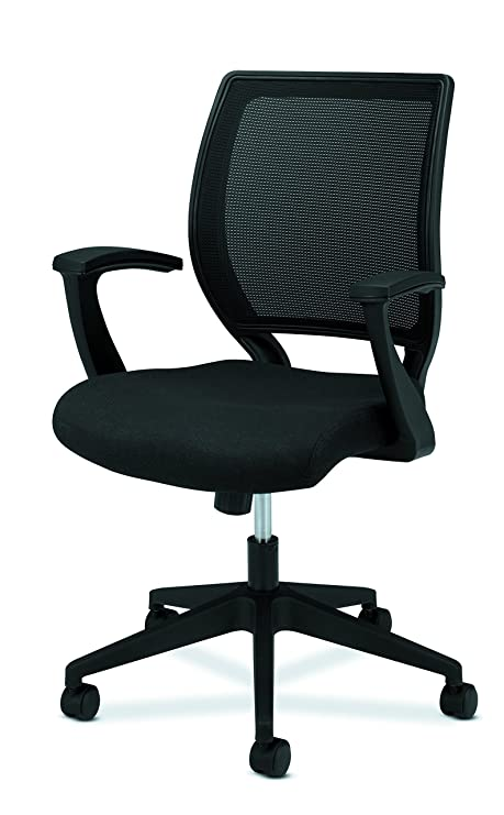basyx VL521 Mid-Back Work Chair, Mesh Back, Fabric Seat ...