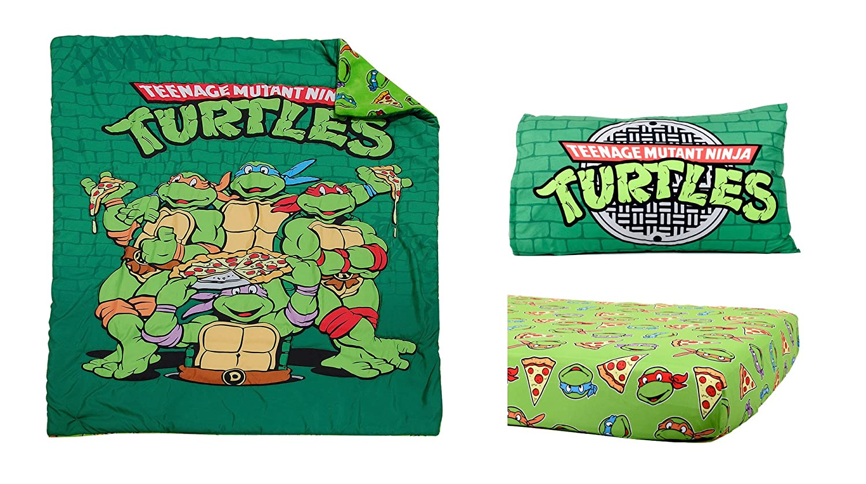 Teenage Mutant Ninja Turtles 3 piezas Juego de cama infantil ...
