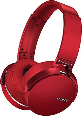 Amazon Com Sony Mdrxb950bt R Extra Bass Bluetooth Headphones Red Home Audio Theater