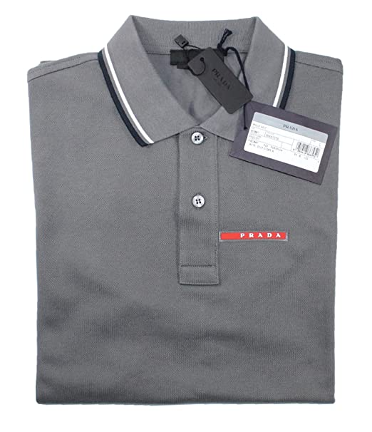 official photos 19bbc fca77 Prada - T-Shirt - Polo - Uomo: Amazon.it: Abbigliamento