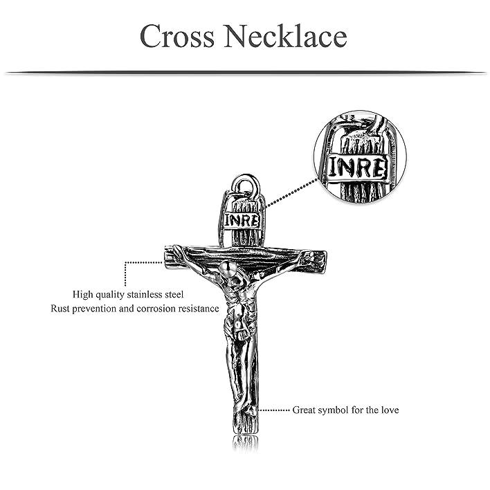 Amazon Joriva Mens Stainless Steel Cross Necklace Antique