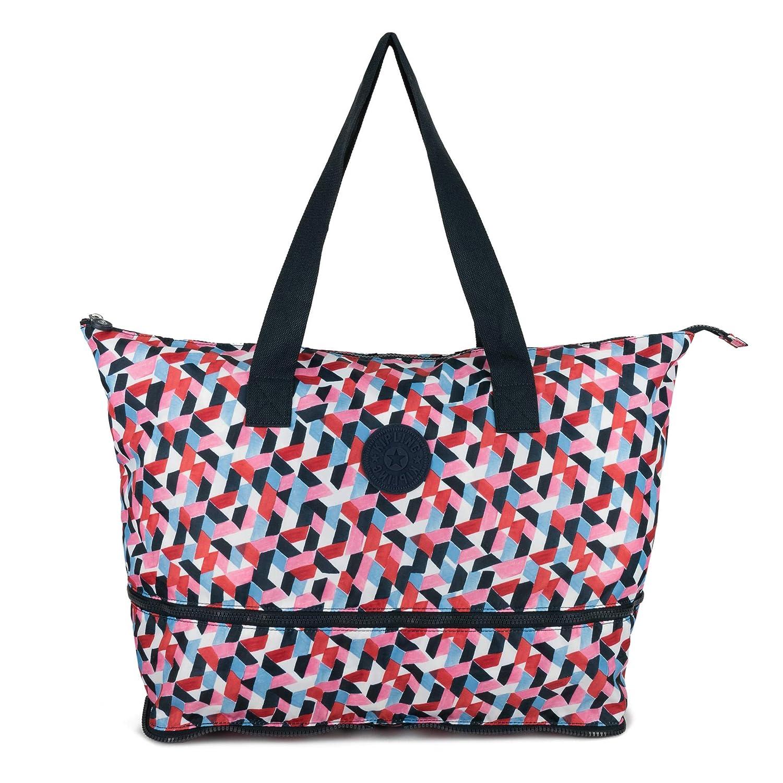Kipling Women s Imagine Foldable Tote, Packable Travel Bag, Zip Closure