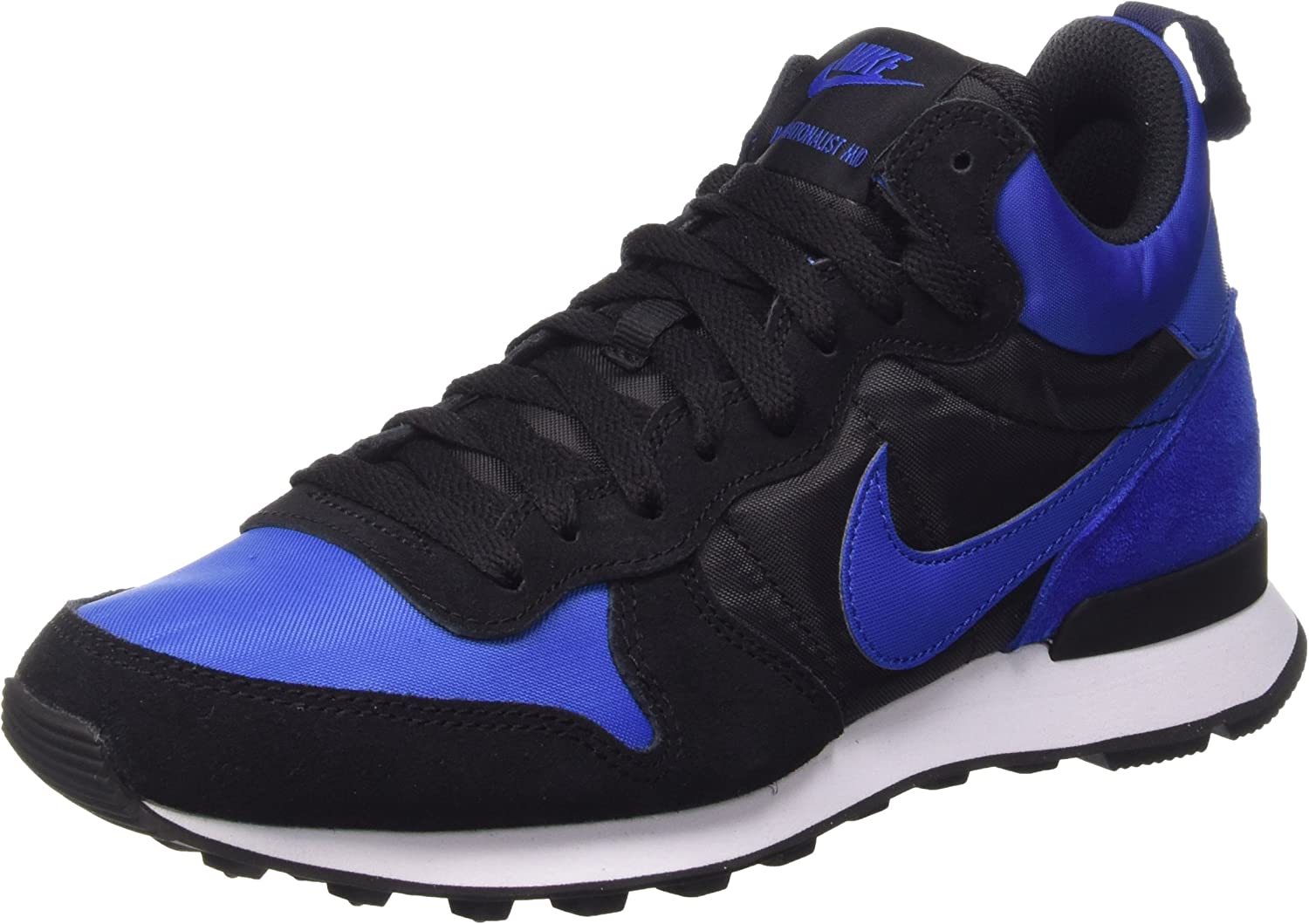Nike Men's Internationalist Mid Royal Royal Black White Suede Running Shoe