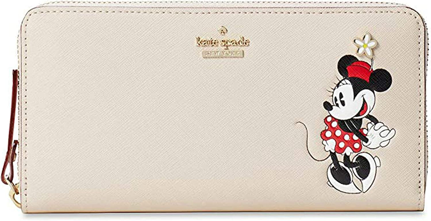 Kate Spade x Minnie Mouse Lacey Leather Wallet Clutch