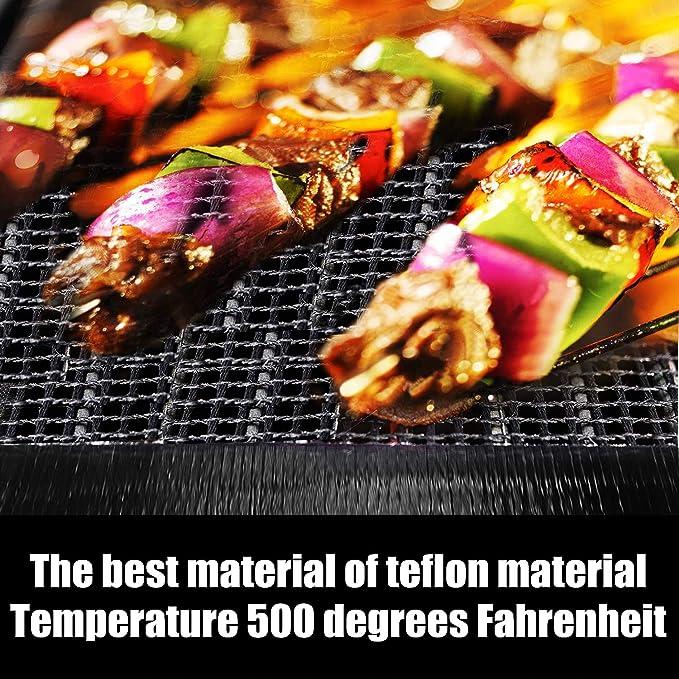 Antiadherente Alfombrilla de Rejilla para Parrilla de Barbacoa ODSPTER para Asar y Hornear Resistente al Calor hasta 260 /ºC