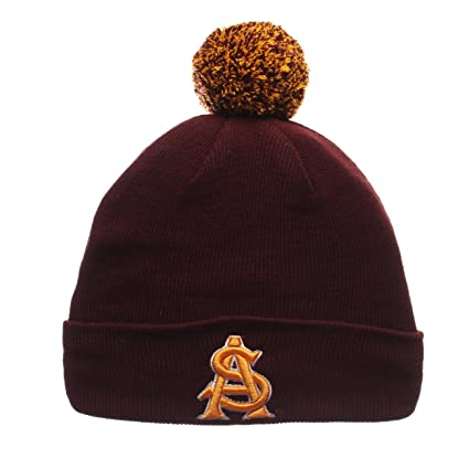 ZHATS Arizona State Sun Devils Maroon Cuff Beanie Hat with POM POM - NCAA  ASU Cuffed a308be7ed16b