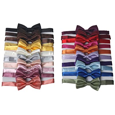 1 Tuxedo Solid Color Bow Ties for Boys - Brown