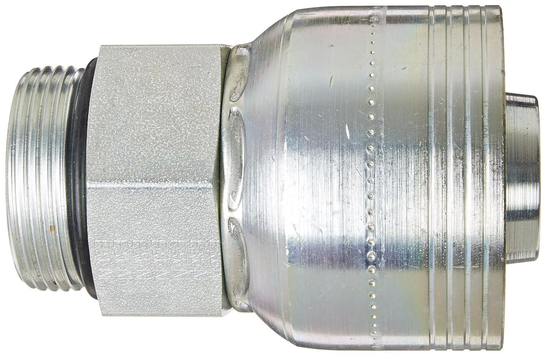 Thru the Cover Straight Aeroquip 1BA12MB12 Carbon Steel Global TTC12 3//4 Tube Size 3//4 Hose ID 3//4 Tube Size Eaton 3//4 Hose ID Crimp Hose Fitting Male Boss O-Ring