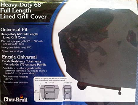 Char-Broil Heavy-Duty Full Length Lined Grill Cover, 68