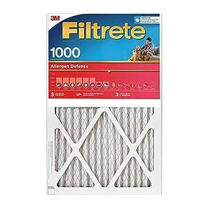 Filtrete 10x20x1, AC Furnace Air Filter, MPR 1000, Micro Allergen Defense, 4-Pack