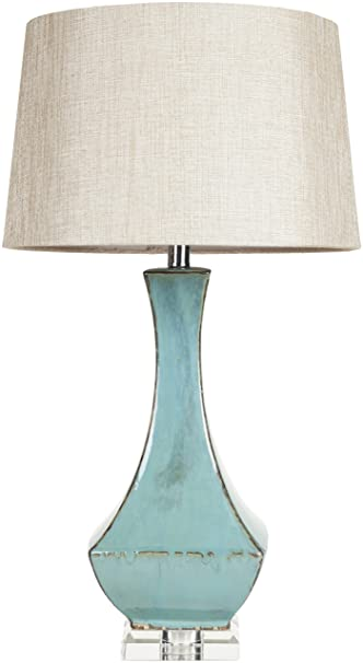 Great Surya LMP 1004 Table Lamp, 30 By 16 By 16 Inch, Turquoise