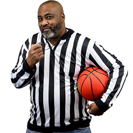 e0854f35b Amazon.com  Crown Sporting Goods Men s Official Striped Referee ...