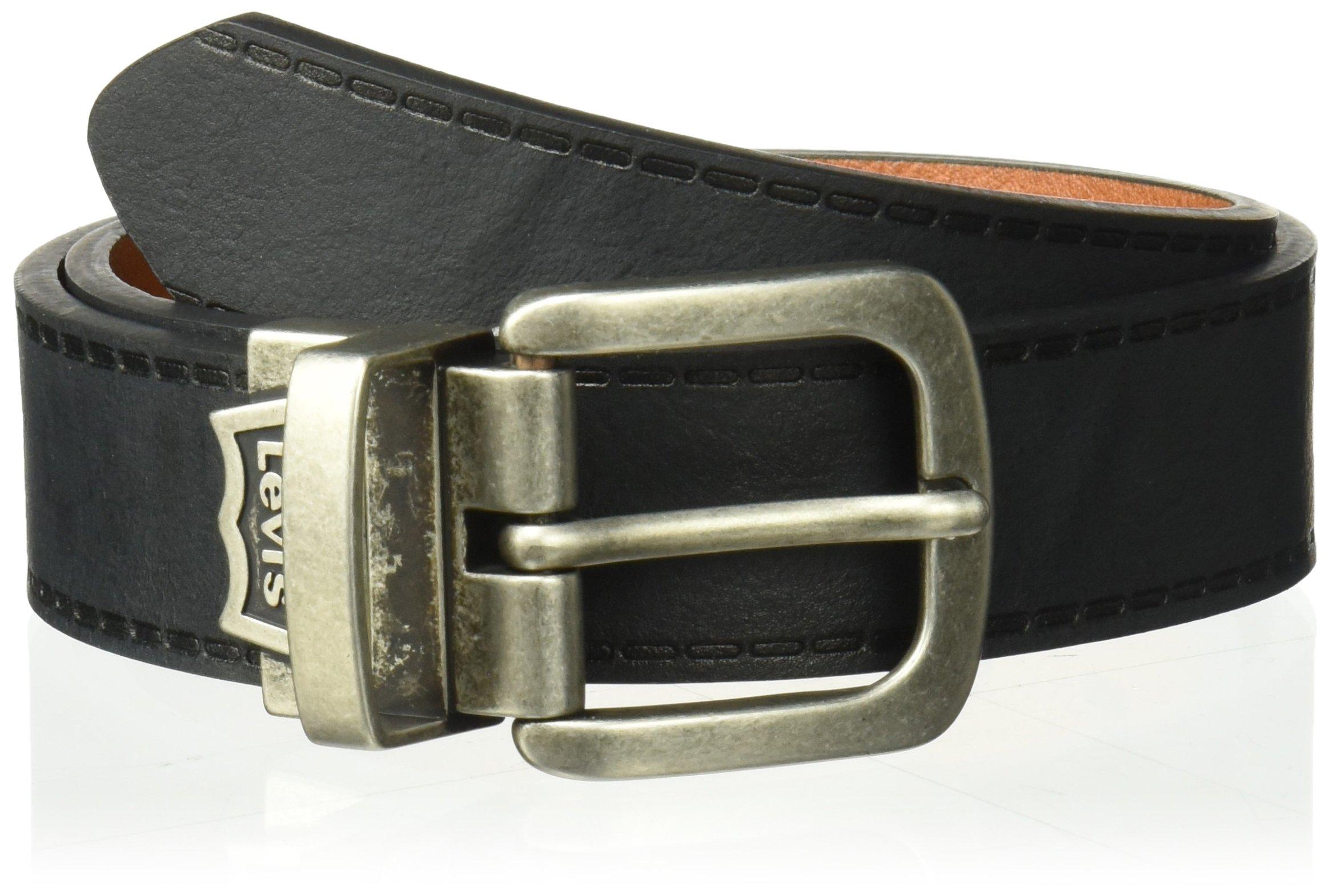 Levi's Big Boy's 1 1/4'' Reversible Jean Belt , black/tan, Xlarge