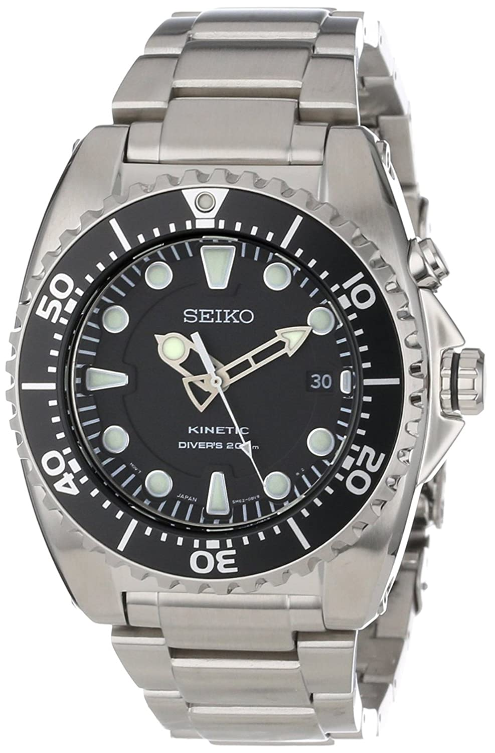 sports watches shop amazon uk seiko prospex kinetic 200 meter dive men s automatic analogue watch black dial and stainless steel case