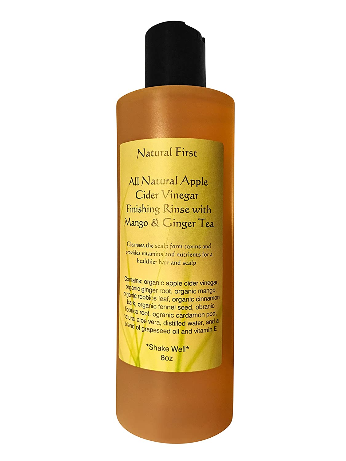 Natural First Organic Apple Cider Vinegar Finishing Vitamin and Nutrient Rinse w/Mango and Ginger Tea
