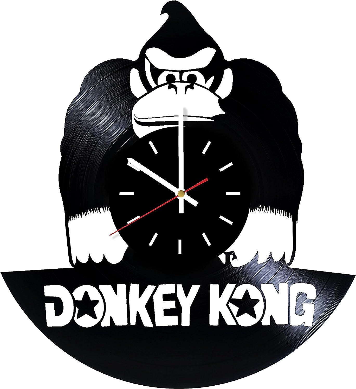 Everyday Arts Donkey Kong Platformer Design Vinyl Record Wall Clock - Get Unique Bedroom or Garage Wall Decor - Gift Ideas for Friends, Brother - Darth Vader Unique Modern Art