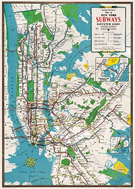Request Nyc Subway Map.Amazon Com Cavallini Decorative Paper New York City Subway Map 20